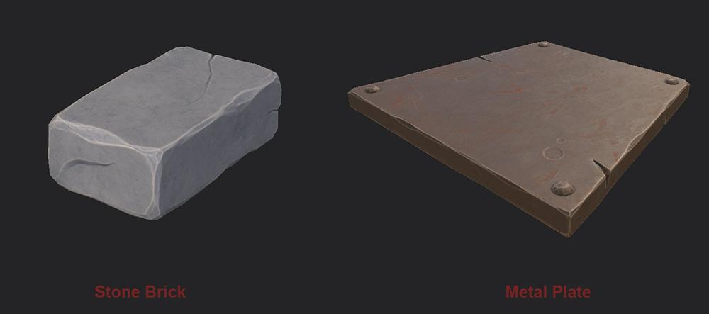 StoneBrick and MetalPlate